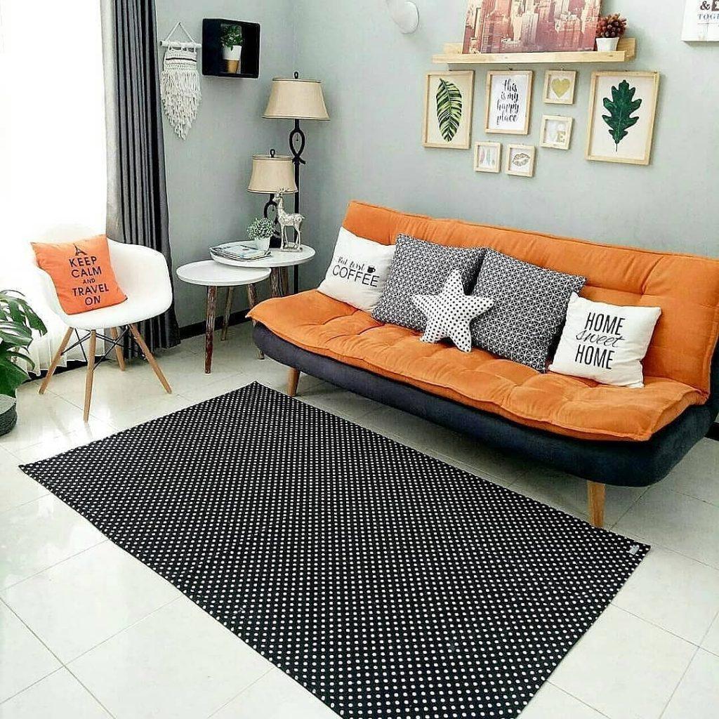 dekorasi ruang keluarga di rumah dengan stiletto living