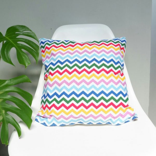 Cushion cover kanvas - Rainbow Chevron (sarung bantal/sarung bantal sofa/bantal hias) 1