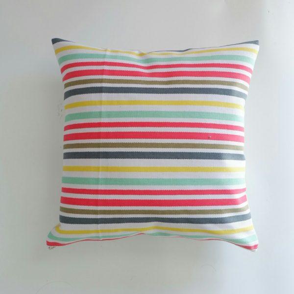 Cushion cover kanvas - Rainbow Stripe (sarung bantal/sarung bantal sofa/bantal hias) 1