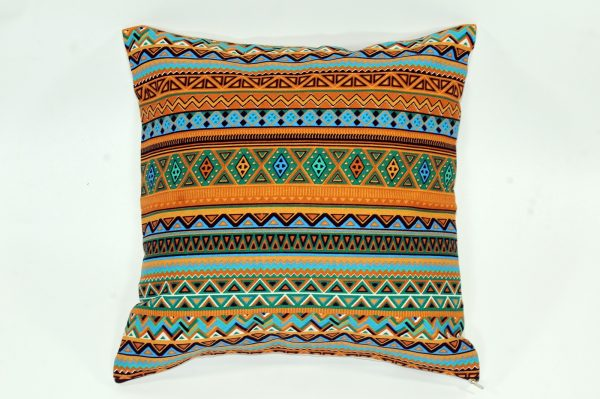 Cushion cover kanvas - Tribal Coklat (sarung bantal/sarung bantal sofa/bantal hias) 1