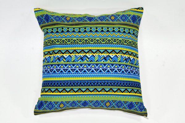 Cushion cover kanvas - Tribal Hijau (sarung bantal/sarung bantal sofa/bantal hias) 1