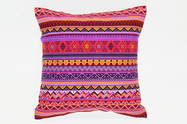 Cushion cover kanvas - Tribal ungu (sarung bantal/sarung bantal sofa/bantal hias) 1