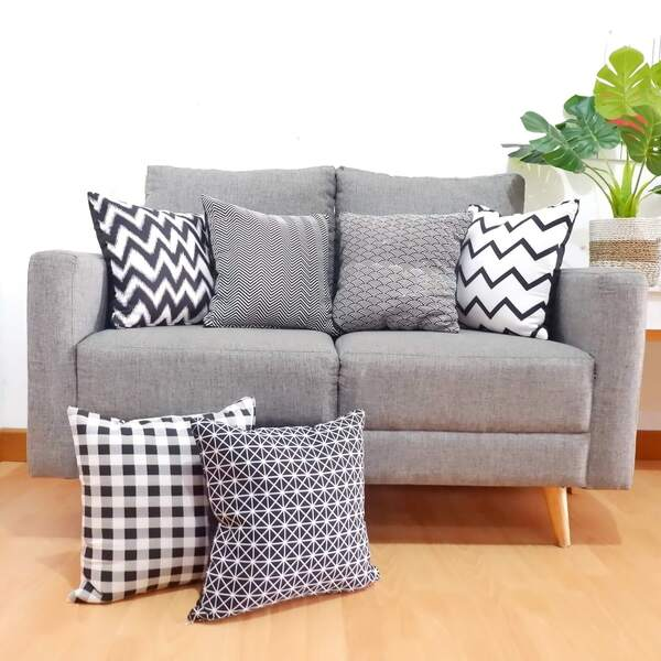Cushion Cover Katun Monokrom