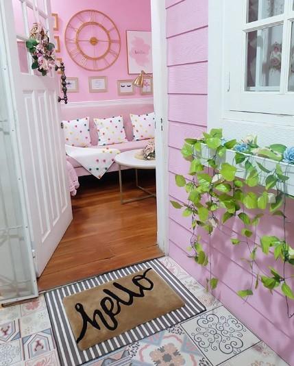 Dekorasi Rumah Feminin yang romantis.