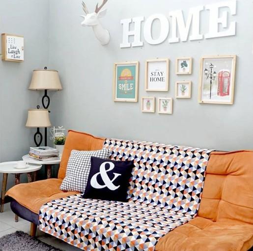Dekorasi rumah mungil - Cover Sofa.