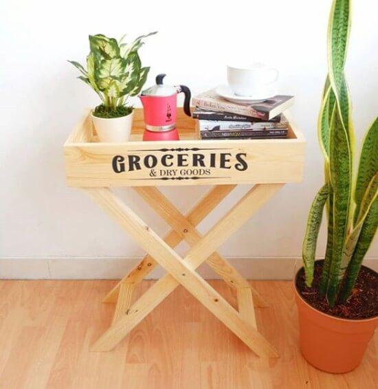 Dekorasi rumah unik: Meja Kopi Groceries