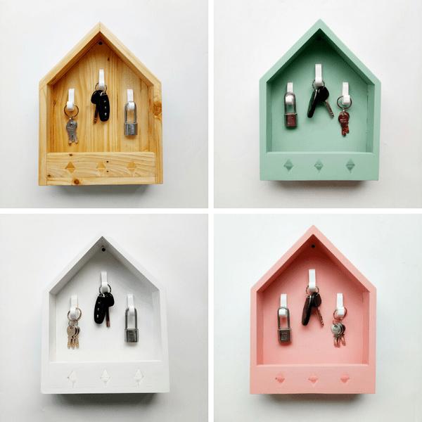 Hiasan rumah dari kayu - key holder