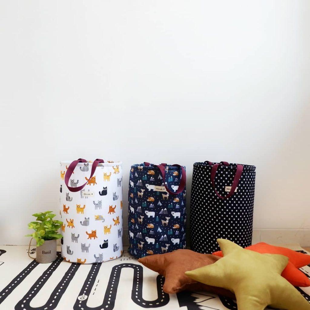 Kamar anak yang sederhana - Storage kanvas