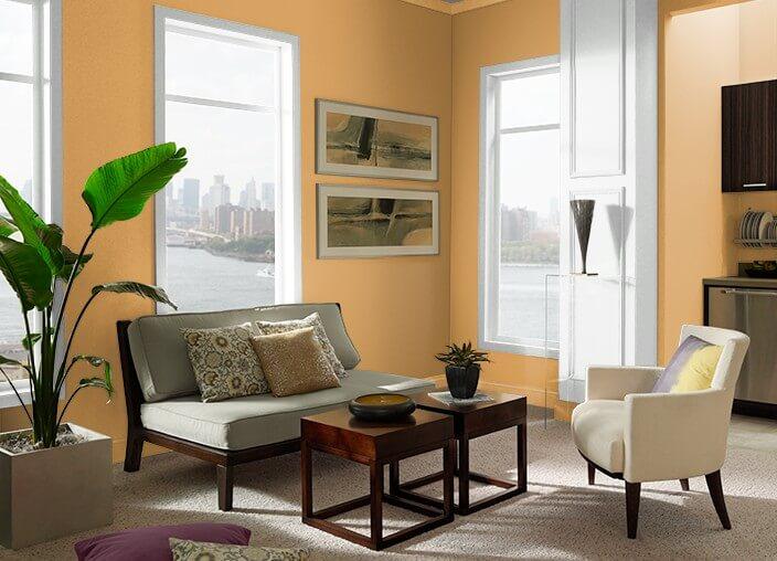 Tren warna interior 2020 - Saffron