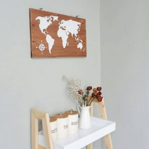 Wall decor peta dunia